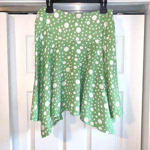 LARRY LEVINE green POLKA DOT Skirt 8